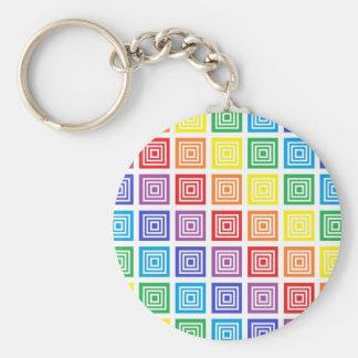 Chaveiro Arco-íris esquadrado