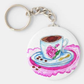 Chaveiro Arte da chávena de café