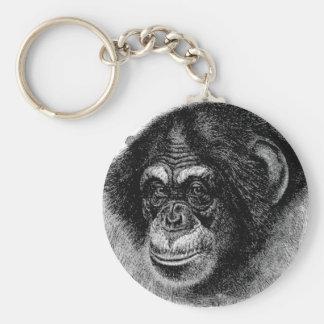 Chaveiro Arte principal do chimpanzé