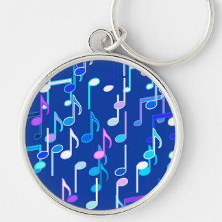 Chaveiro As notas musicais imprimem - o azul de índigo,