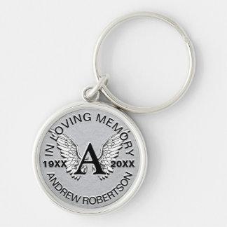 Chaveiro Asas de prata do anjo do memorial | do monograma |