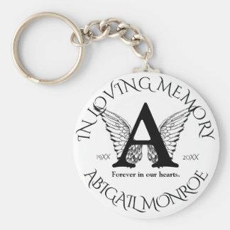 Chaveiro Asas do anjo do memorial   do monograma  