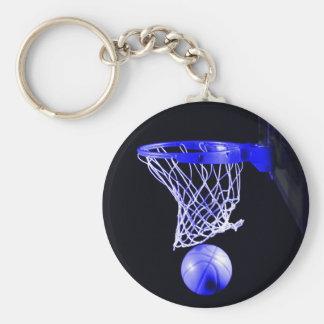 Chaveiro azul do basquetebol