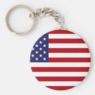 Chaveiro Bandeira americana - bandeira dos Estados Unidos -