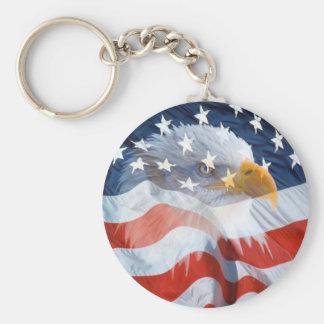 Chaveiro Bandeira americana da águia americana patriótica