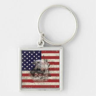 Chaveiro Bandeira e símbolos dos Estados Unidos ID155