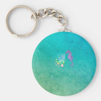 Chaveiro Bolhas de sopro do arco-íris do cavalo marinho na