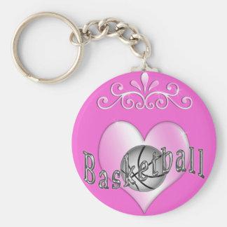 Chaveiro bonito do basquetebol para mulheres e men
