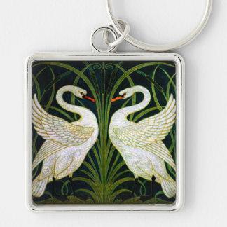 Chaveiro branco de Nouveau da arte da cisne
