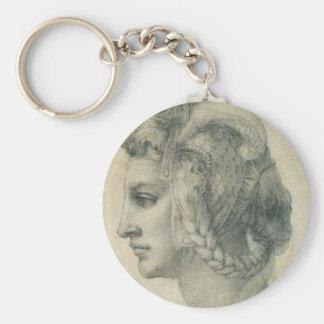 Chaveiro Cabeça ideal de uma mulher por Michelangelo