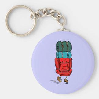 Chaveiro Caminhante azul do mochileiro dos desenhos