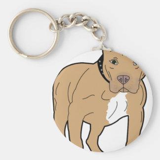 Chaveiro Cão personalizado de Pitbull do americano