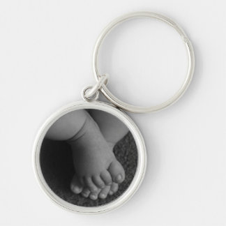 Chaveiro carnudo dos pés do bebê