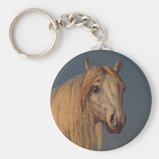 Chaveiro Cavalo árabe branco do garanhão da arte antiga do