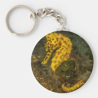 Chaveiro Cavalo marinho amarelo