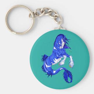 Chaveiro Cavalo marinho azul de Clydesdale da fantasia