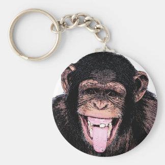 Chaveiro Chimpanzé do pop art que cola a língua para fora