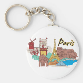 Chaveiro Cidade mundialmente famosa de Paris, France