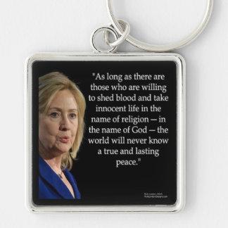 Chaveiro Citações da religião do sangue de Hillary Clinton