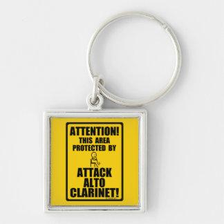 Chaveiro Clarinete do alto do ataque