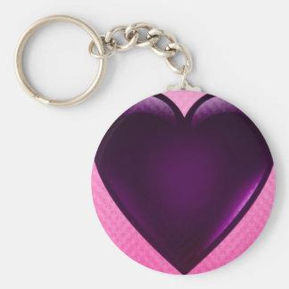 Chaveiro cor-de-rosa do coração do amor