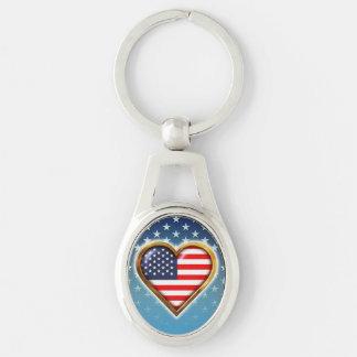 Chaveiro Coração americano