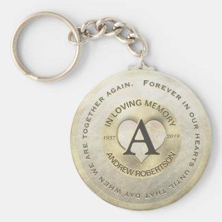 Chaveiro Coração do ouro do memorial   do monograma  