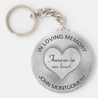 Chaveiro Coração memorável de prata