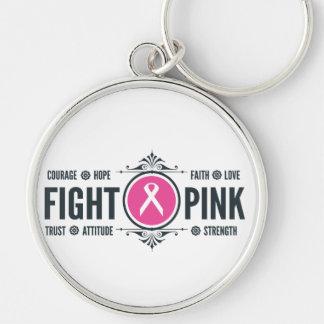 Chaveiro Corrente chave cor-de-rosa da luta
