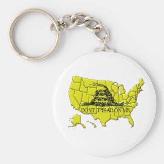 Chaveiro Corrente chave de Gadsden América