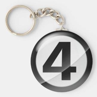 Chaveiro Corrente chave preta do número 4