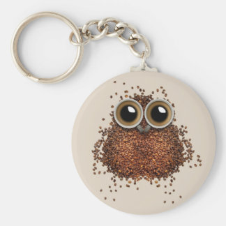 Chaveiro Correntes chaves da coruja do café
