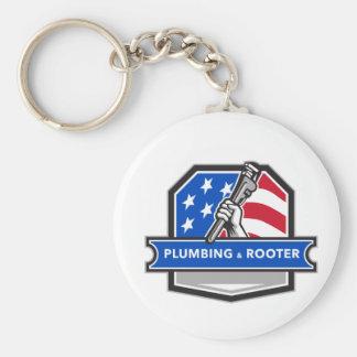 Chaveiro Crista da bandeira dos EUA da chave de tubulação