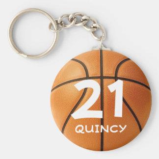 Chaveiro customizável do basquetebol