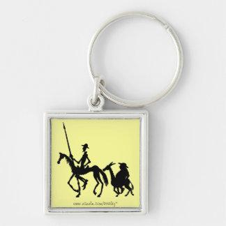 Chaveiro da arte gráfica de Don Quixote e de Sanch