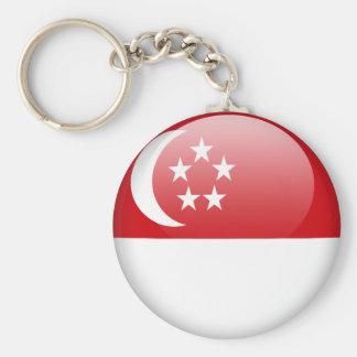 chaveiro da bandeira de singapore