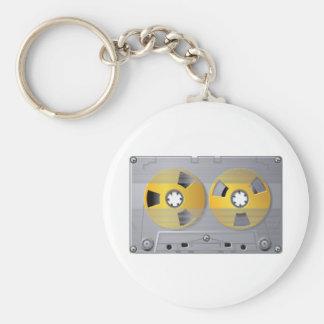Chaveiro da fita da cassete áudio