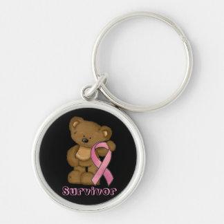 Chaveiro da fita do rosa da consciência do cancro