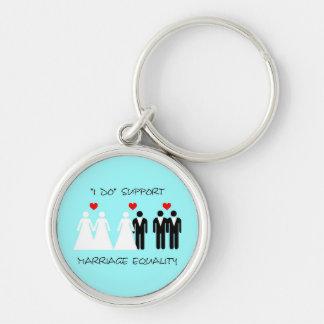 Chaveiro da igualdade do casamento do apoio - redo