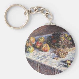 Chaveiro De Claude Monet vida ainda com maçãs e uvas