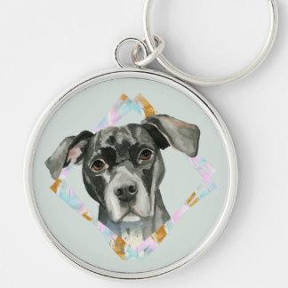 """Chaveiro De """"pintura da aguarela do cão do pitbull todas as"""