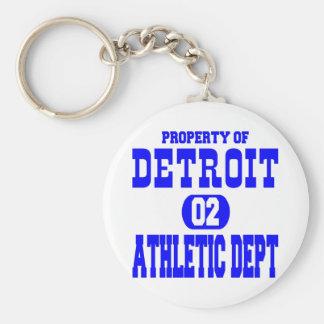 Chaveiro Departamento atlético branco de Detroit