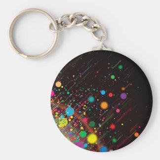 Chaveiro Design legal do abstrato da cor do arco-íris