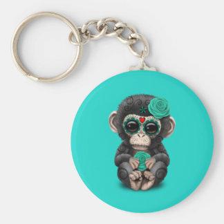 Chaveiro Dia azul do chimpanzé inoperante