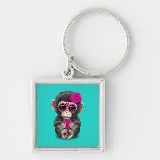 Chaveiro Dia cor-de-rosa do chimpanzé inoperante