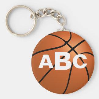 Chaveiro do basquetebol do monograma