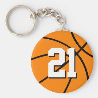 Chaveiro | do basquetebol do número 21 customizáve