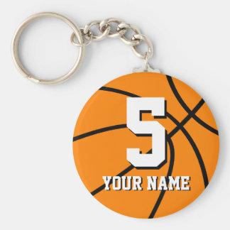 Chaveiro do basquetebol do número 5   Personalizab