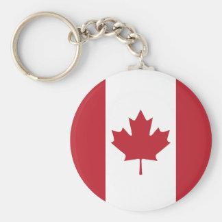 Chaveiro do botão da bandeira de Canadá