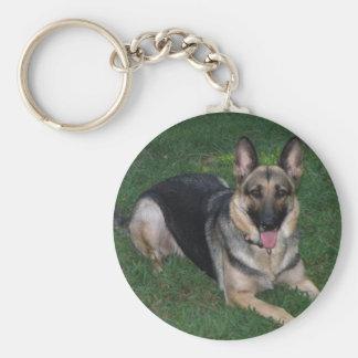 Chaveiro do cão de german shepherd